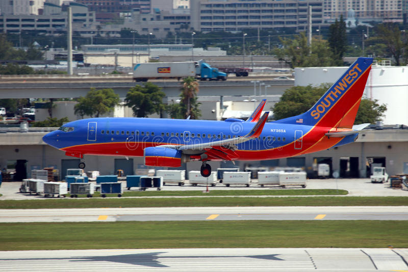 Southwest Boeing 737 royalty free stock photo