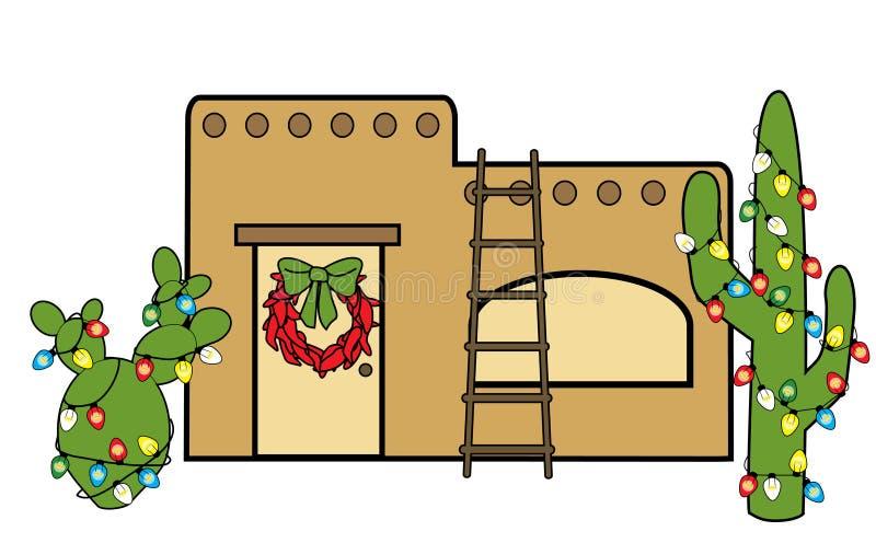 Southwest Christmas royalty free illustration