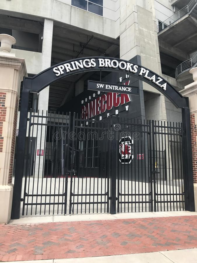 Southwest Entrance to Williams Brice Stadium stock photo