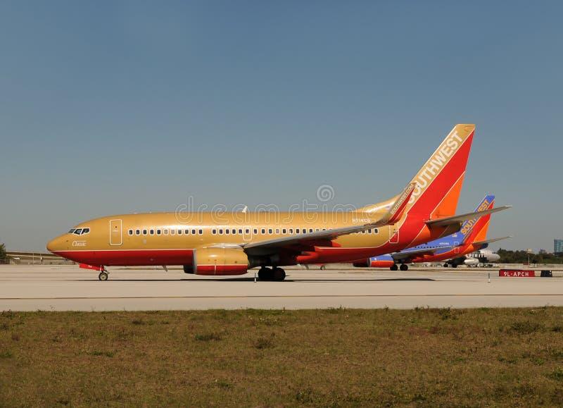 southwest för flygbolagstrålpassagerare arkivbild