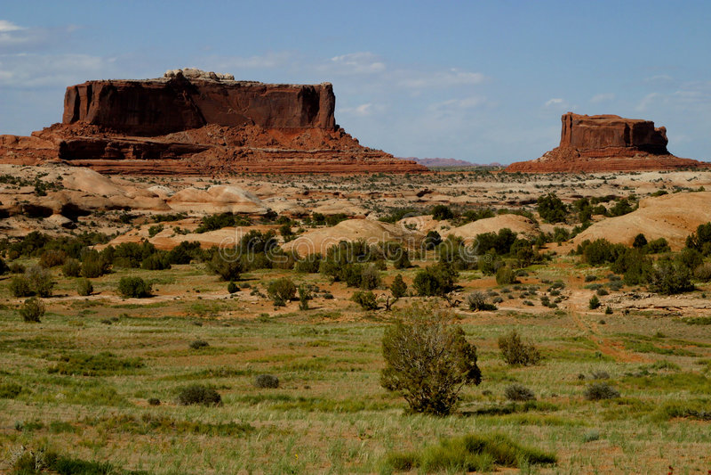 Southwest - Mesas. Mesas photographed in southeastern Utah stock photo