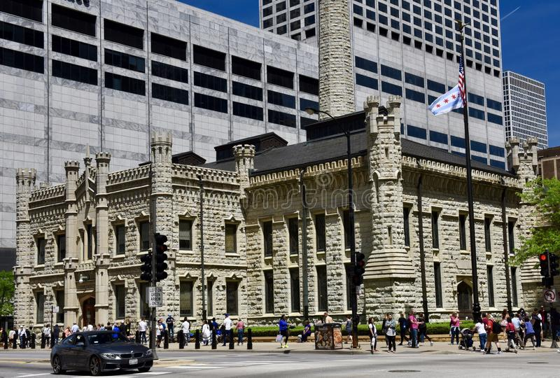 Southwest View of Chicago Avenue Pumping Station royalty free stock photos