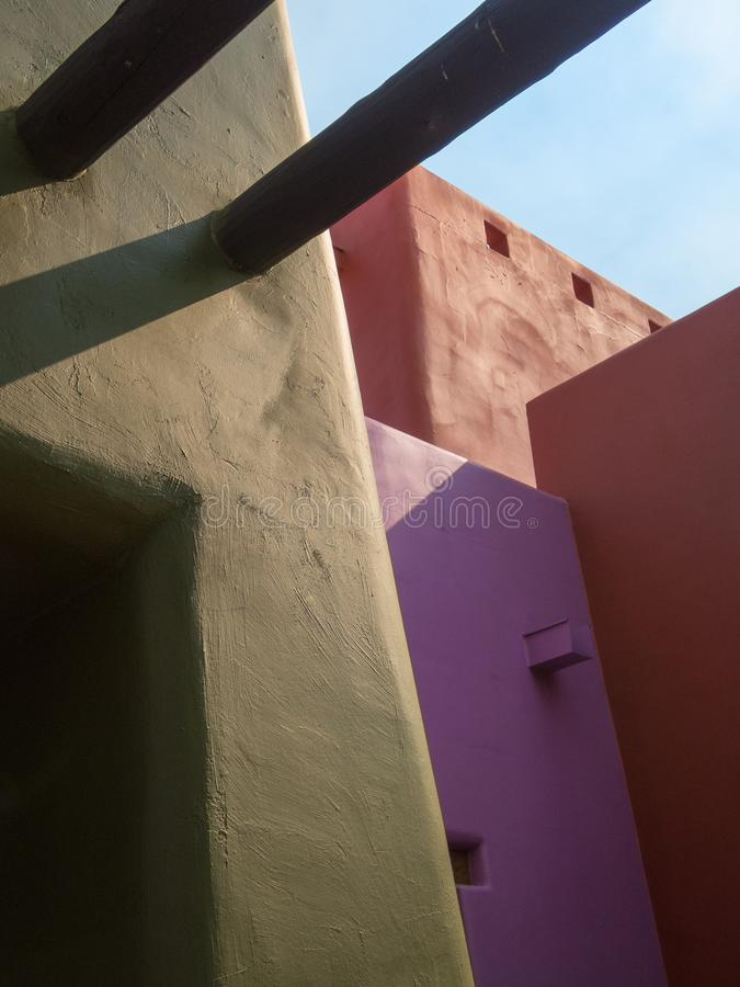 Free Southwestern Architecture, Blended Colors Stock Photography - 162239502