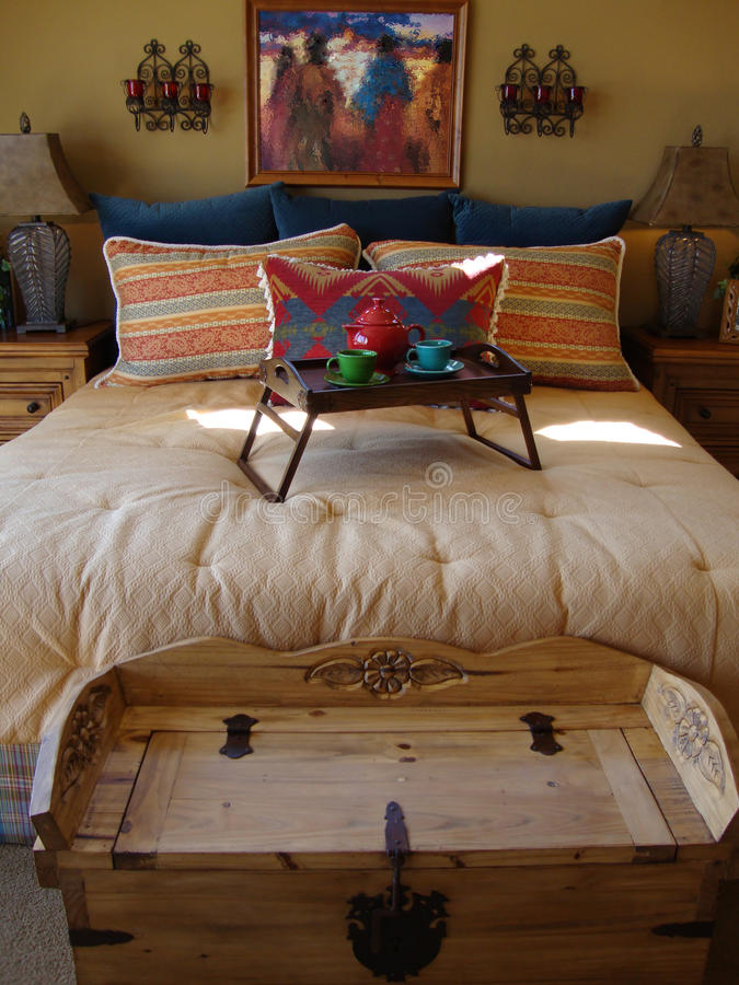 Southwestern Bed Room Royalty Free Stock Image
