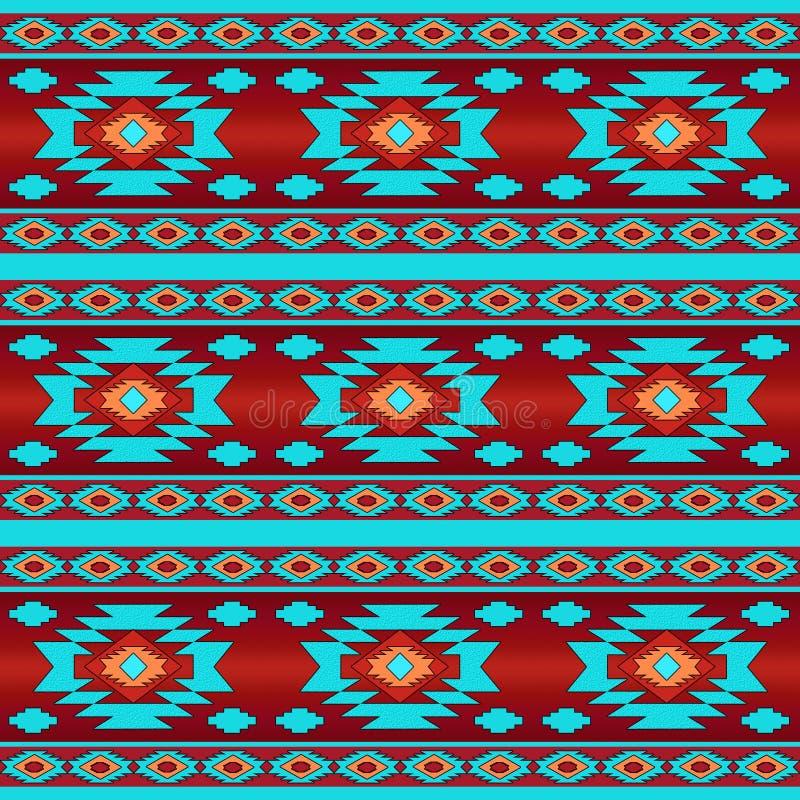 Southwestern ethnic navajo pattern stock image