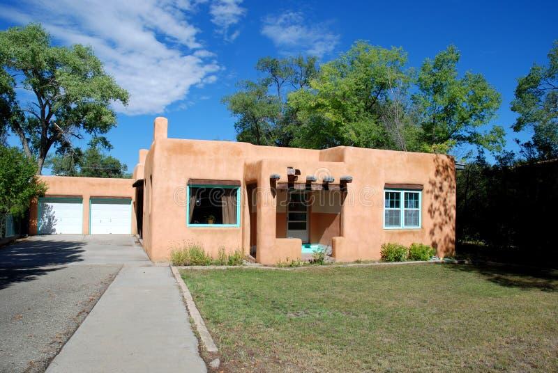 Southwestern home. Southwestern mock adobe home, Taos, New Mexico stock photography