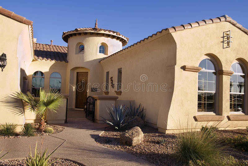 Southwestern Style Modern Home stock photo