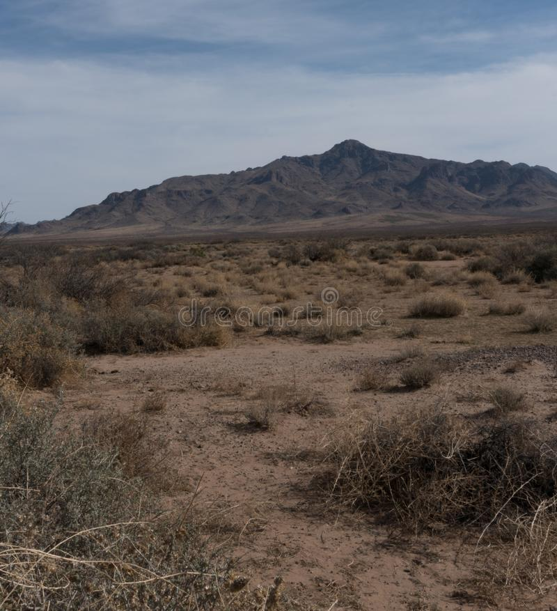 Southwestern view of the Florida Mountains in New Mexico. The Florida Mountains near Deming, New Mexico show the rugged nature of the desert southwest royalty free stock images