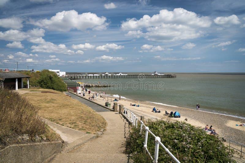 Southwold Beach and Pier, Suffolk UK stock photos
