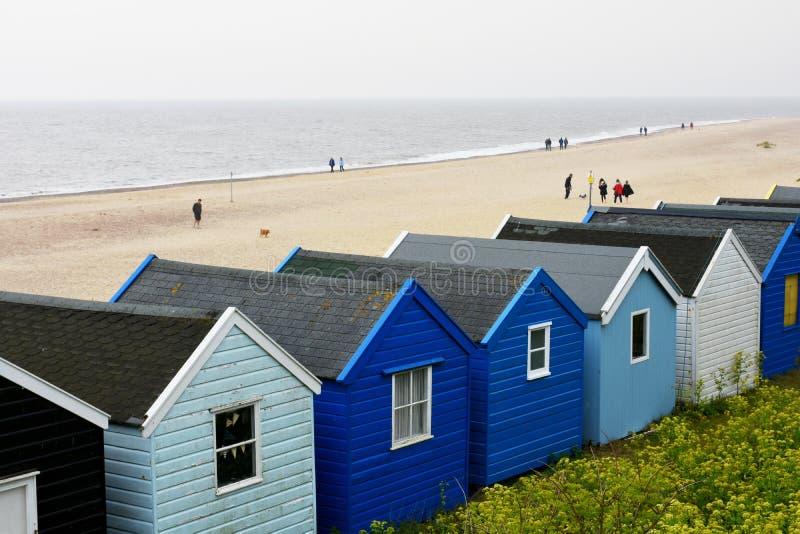 Southwold, Suffolk, UK - Colourful Beach Huts stock photo