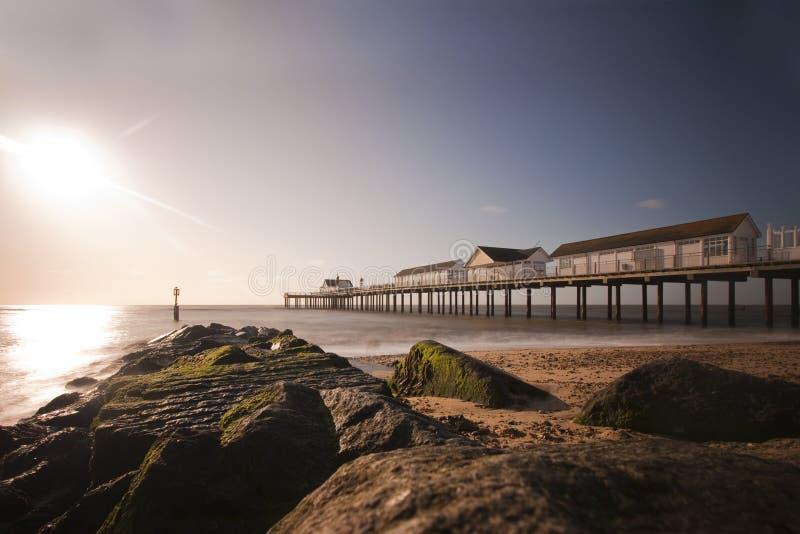 Southwold Pier stockbild
