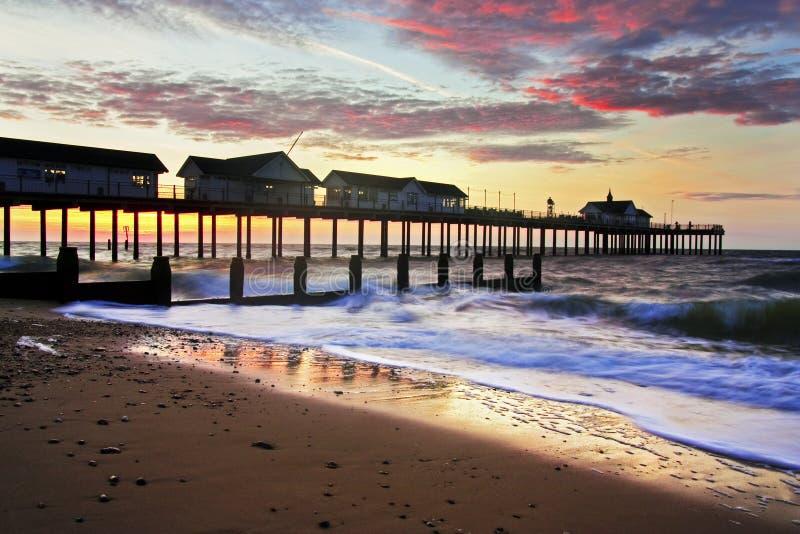 Southwold Pier stockfoto