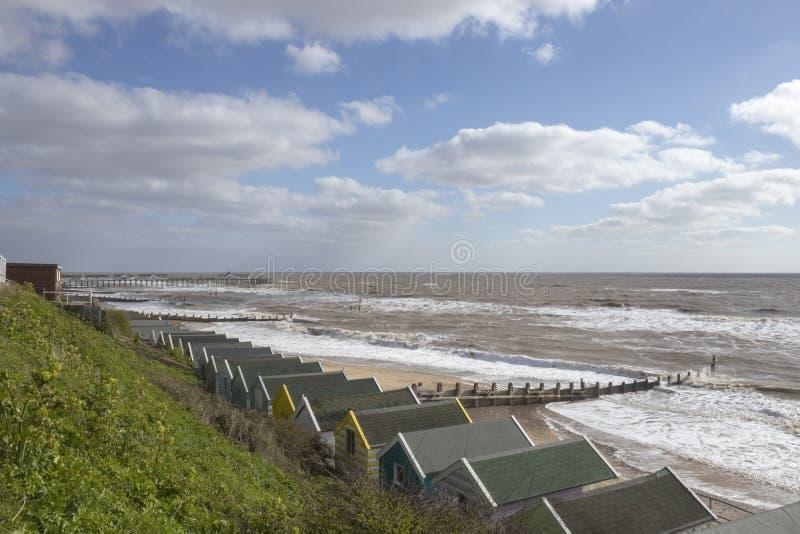 Southwold Seafront, Suffolk, England stock photos