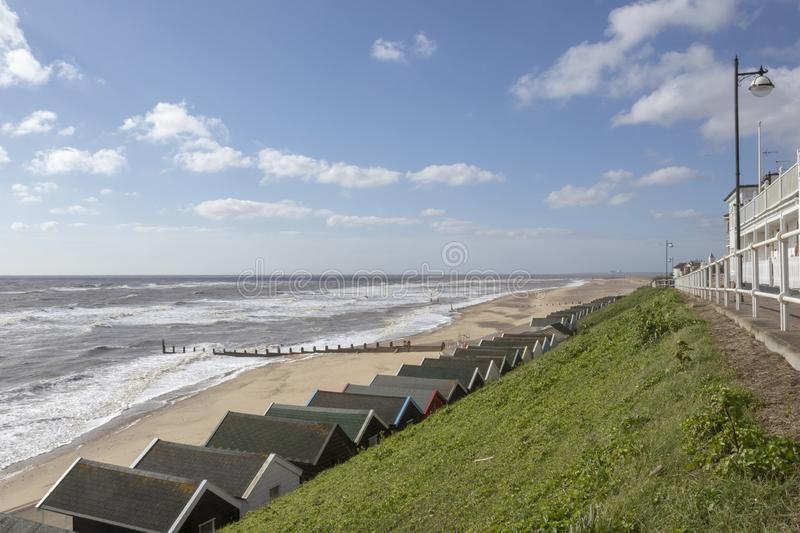 Southwold Seafront, Suffolk, England stock photography