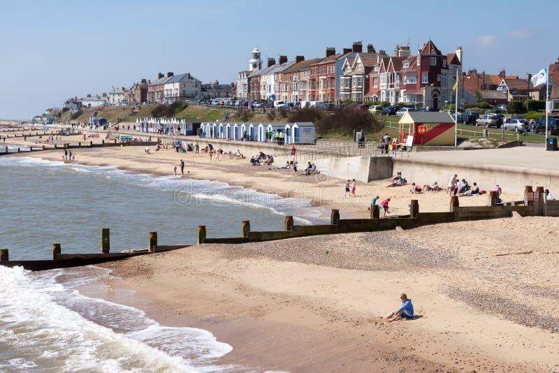 SOUTHWOLD, SUFFOLK/UK - 2 JUIN : Vue de la plage chez Southwold images stock