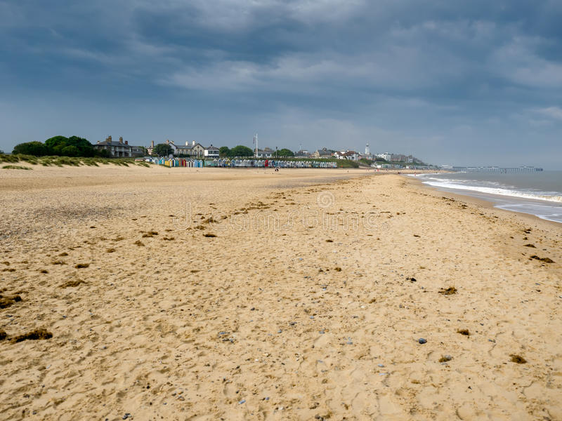 SOUTHWOLD, SUFFOLK/UK - JUNE 11 : View of the Coastline at South stock image