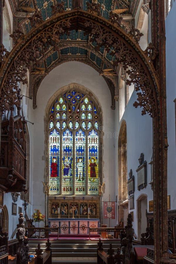 SOUTHWOLD, SUFFOLK/UK - 2 JUNI: Kerk van St Edmund in Southwol stock afbeelding