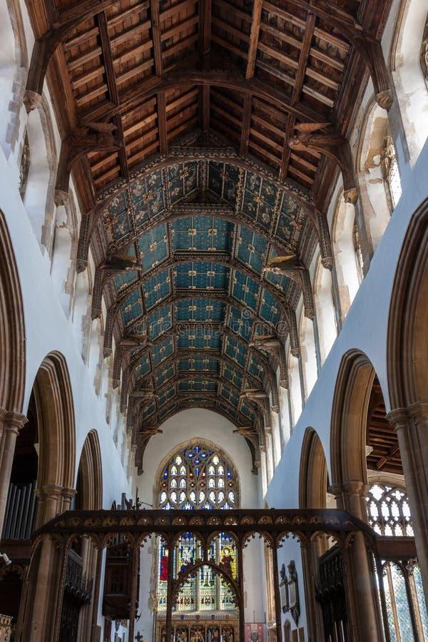SOUTHWOLD, SUFFOLK/UK - 2 JUNI: Kerk van St Edmund in Southwol stock fotografie