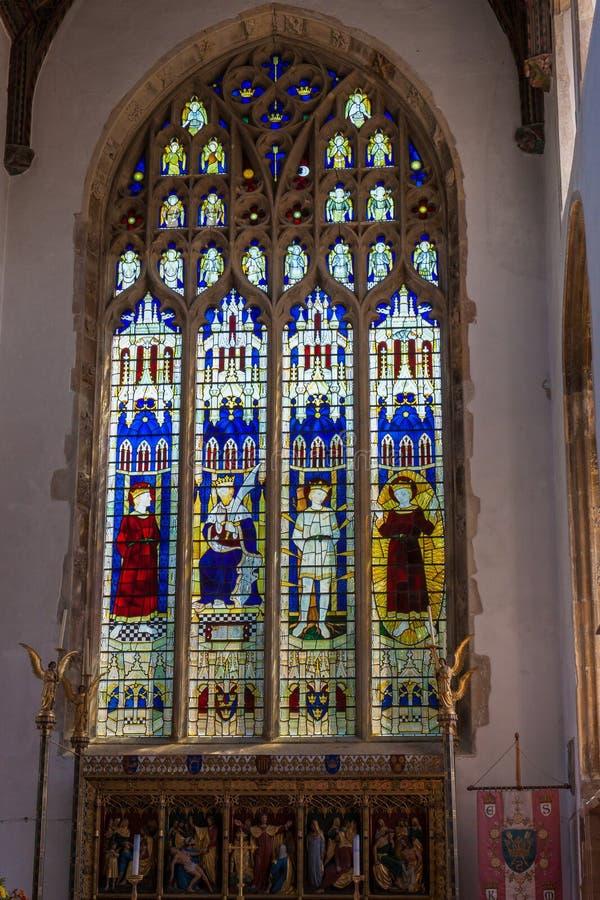 SOUTHWOLD SUFFOLK/UK - JUNI 2: Kyrka av St Edmund i Southwol arkivfoton