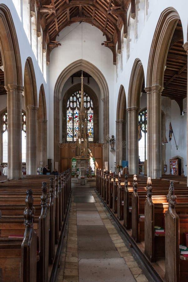 SOUTHWOLD SUFFOLK/UK - JUNI 2: Kyrka av St Edmund i Southwol royaltyfri fotografi