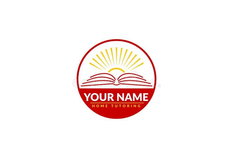 Soutien scolaire à la maison Logo Design illustration stock