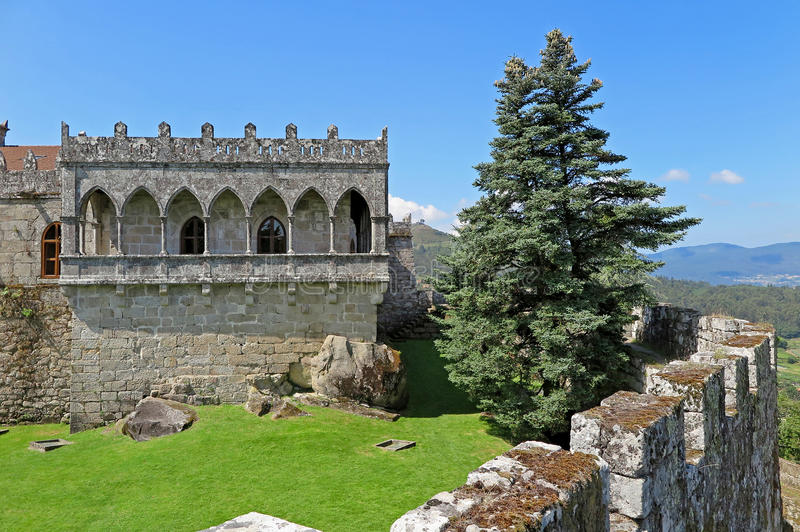 Soutomaior城堡, Pontevedra,加利西亚,西班牙 免版税库存图片