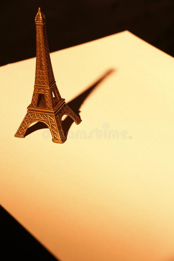 Download Souvenier Eiffel Tower On Paper Close Up Stock Image - Image: 28629923