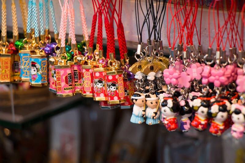 Souvenir at asakusa market in front of Temple, tokyo, Japan. royalty free stock photo