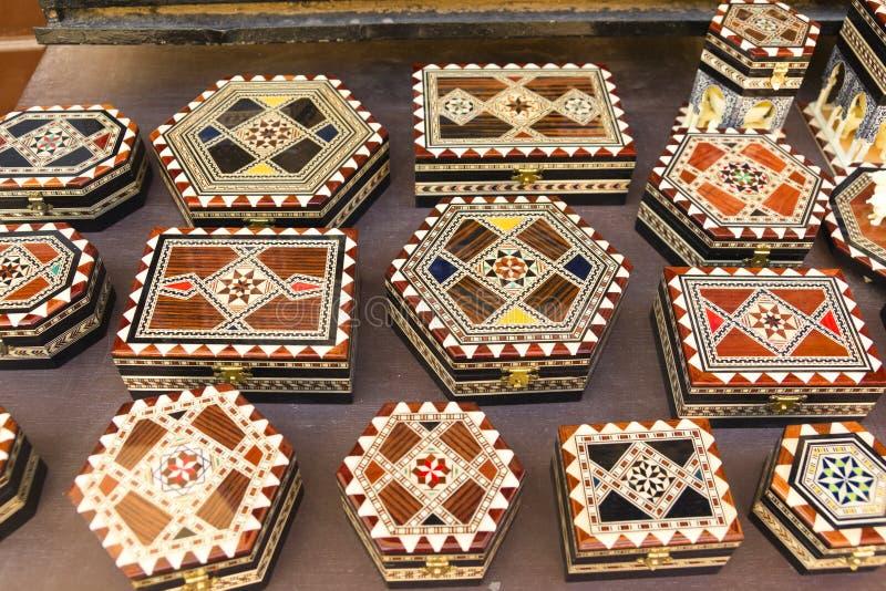 Souvenir av den Alhambra slotten, i Granada, Andalusia, Spanien royaltyfria bilder