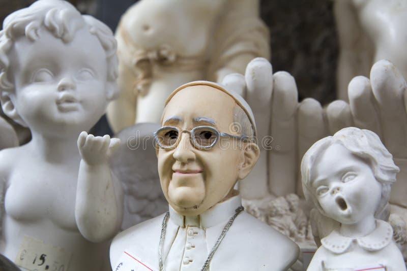 Souvenir av påven arkivbild