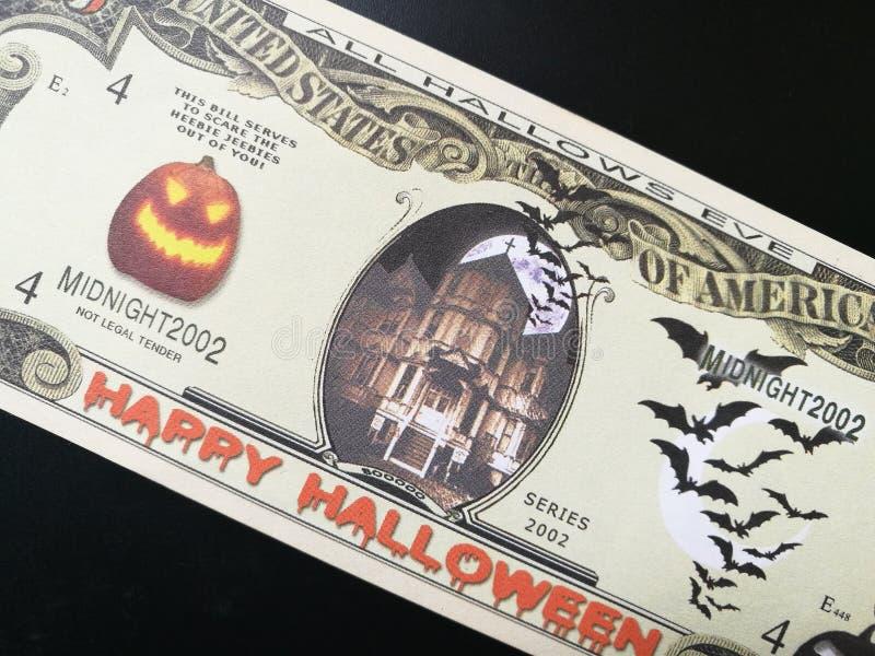 Souvenir bank note Happy Halloween Trick or Treat stock image