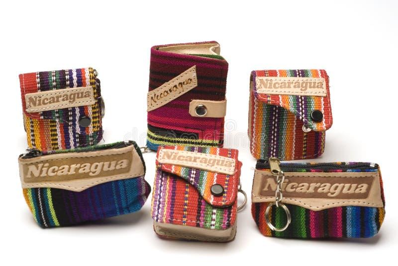 Souvenir change purse nicaragua royalty free stock photos
