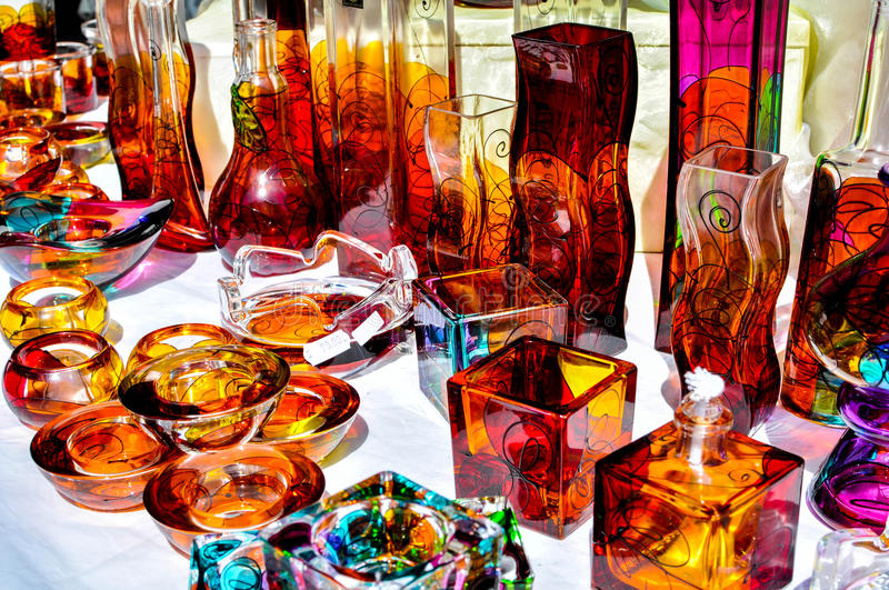 Souvenir. Colorful Croatian souvenir from glass stock image