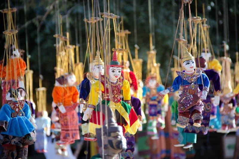 Souvenir de marionnette de tradition de Myanmar image libre de droits