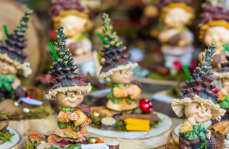 Souvenir du marché de Noël, Trentino Alto Adige, Italie du nord Noël de Trento photos stock