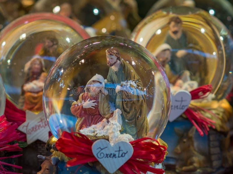 Souvenir du marché de Noël, Trentino Alto Adige, Italie du nord Noël de Trento, foyer sélectif photo libre de droits