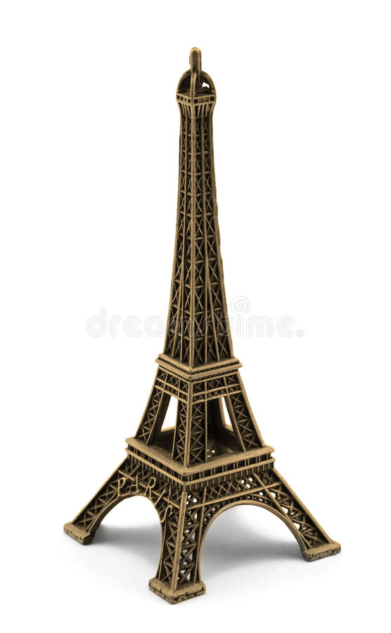 Souvenir en bronze de keychain de Tour Eiffel Paris en métal photo stock