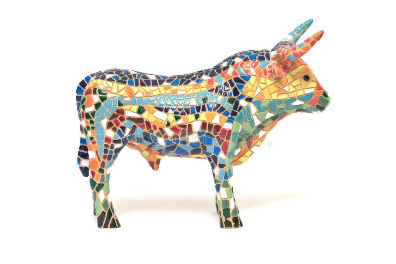Souvenir espagnol de taureau images libres de droits