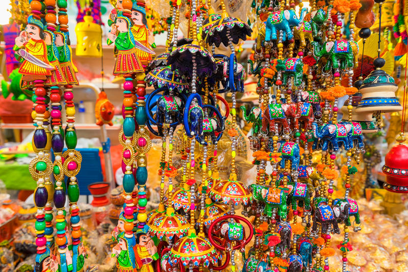 Souvenir in gift shops at Little India, Singapore stock image