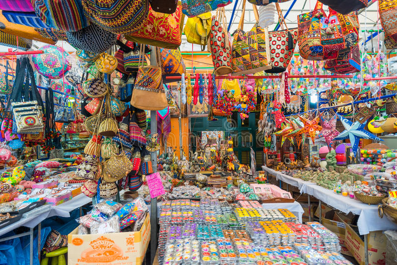 Souvenir in gift shops at Little India, Singapore stock photos