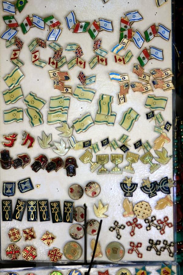 Souvenir i Jaffa den gamla staden royaltyfria bilder