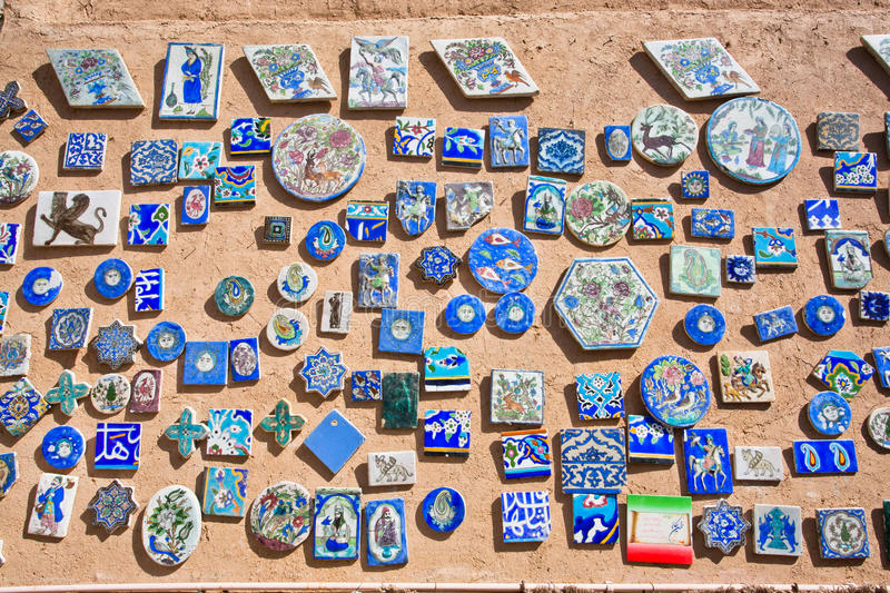 Souvenir magnets with pictures and symbols of Iran and ancient Persia. Souvenir magnets with pictures and symbols of modern Iran and ancient Persia royalty free stock photography