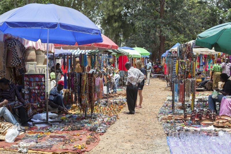 Souvenir market in Nairobi Capital, Kenya royalty free stock images