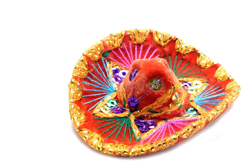 Souvenir mexicain de sombrero images libres de droits