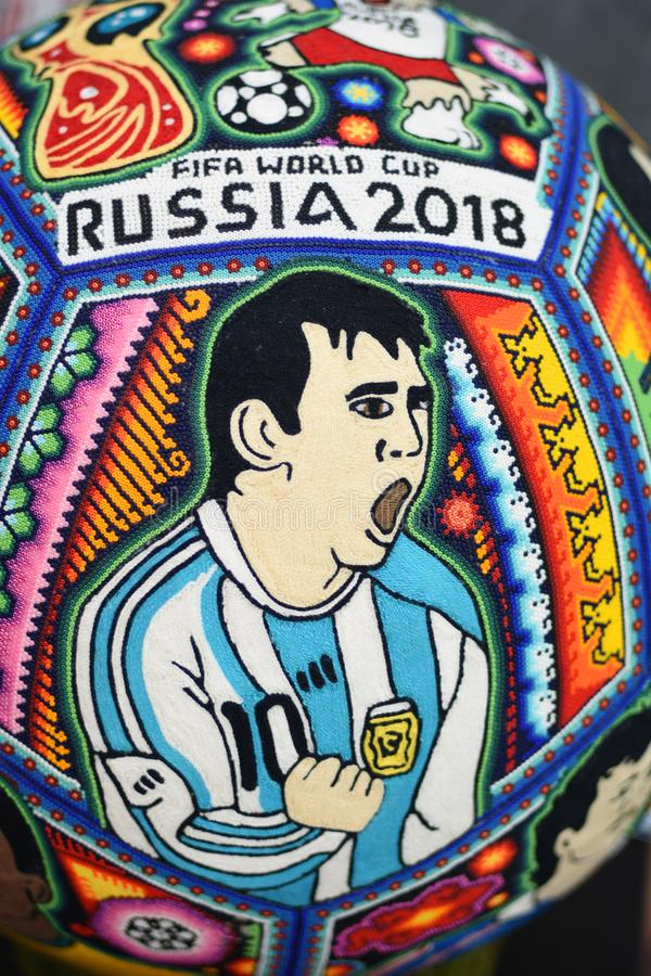 A souvenir from Mexico dedicated to FIFA world cup Russia 2018. Color photo. stock image