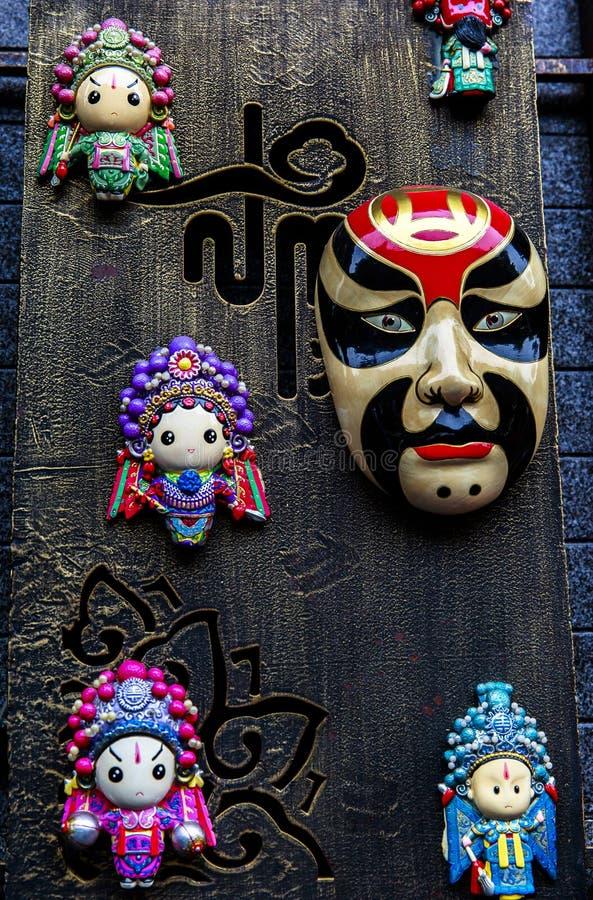 Souvenir på att gå gatan i Chengdu, Kina royaltyfria bilder
