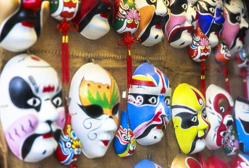 Souvenir på att gå gatan i Chengdu, Kina royaltyfria foton