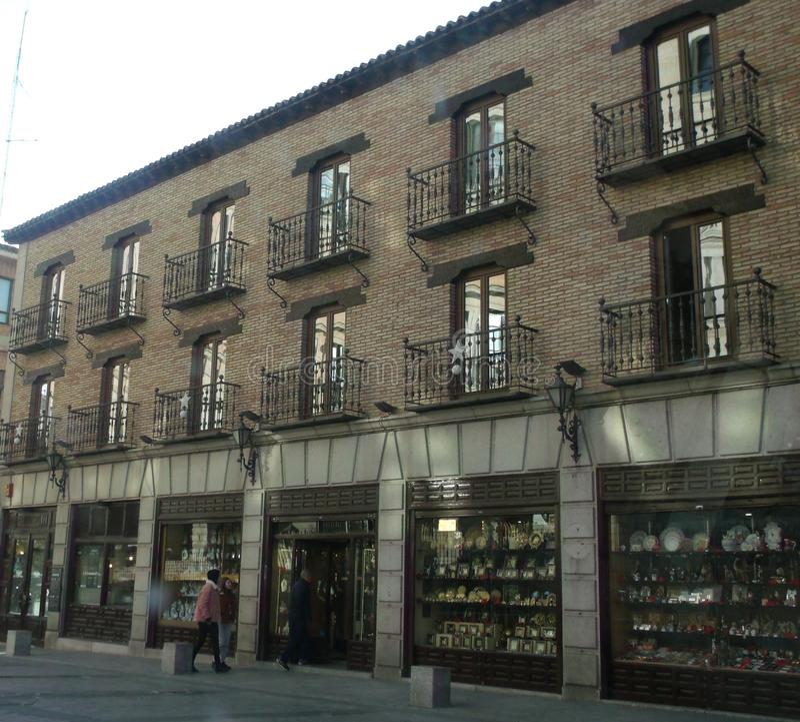 Souvenir selling area in Toledo royalty free stock photos