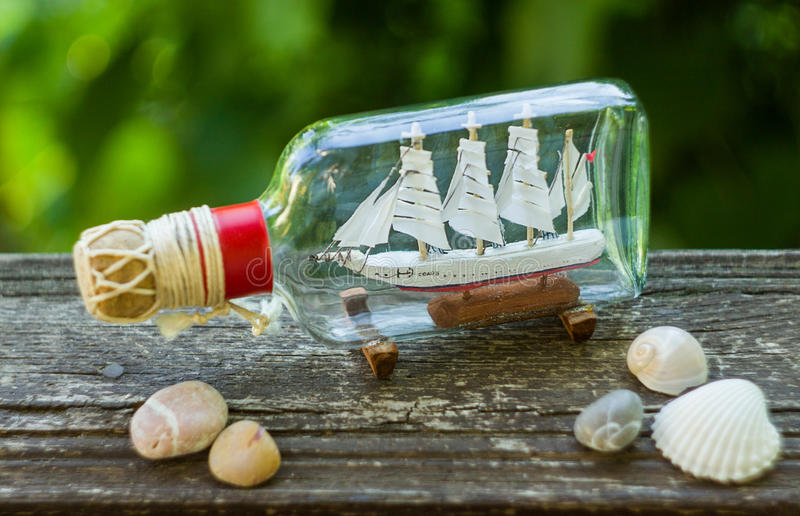 Souvenir Ship in a Bottle royalty free stock image