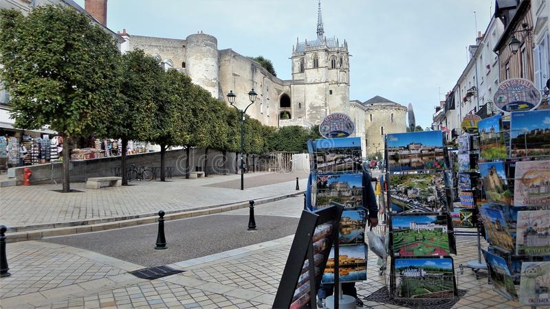 Souvenir shop. Amboise is a city in France. royalty free stock image